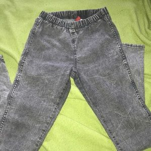 Black Acid Wash Jeggings